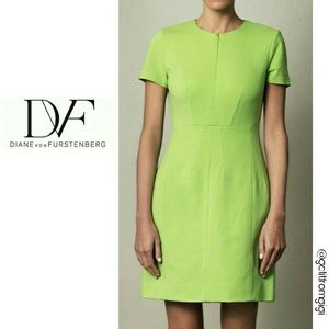 Diana von Furstenberg Agatha Knit Suiting Lime 0